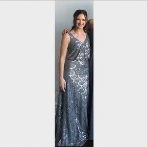 Sorella Vita Style 9062 Platinum Sequin Gown